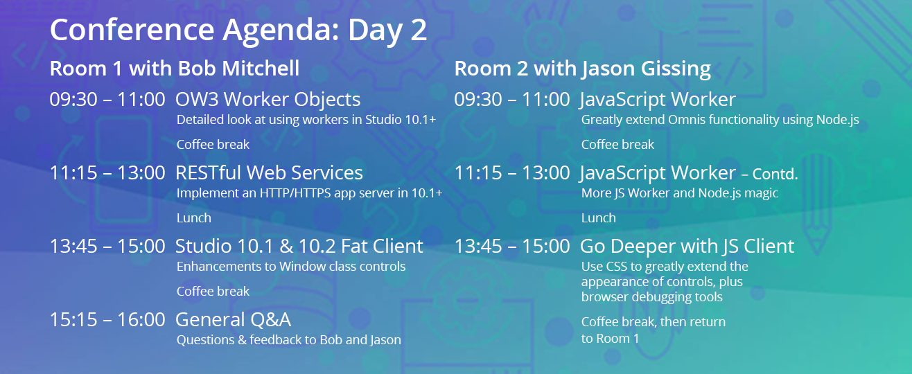 Conference agenda Day 2