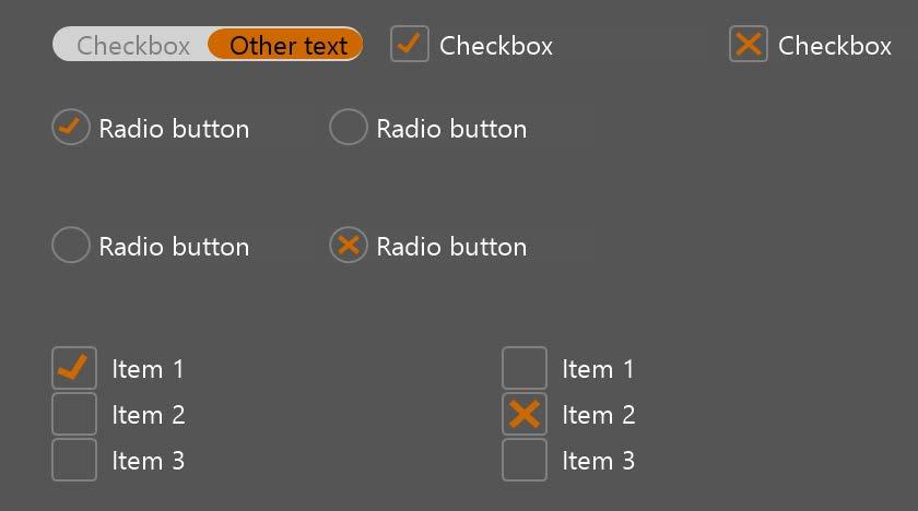 Check box and Radio button