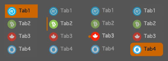 Vertical tabs