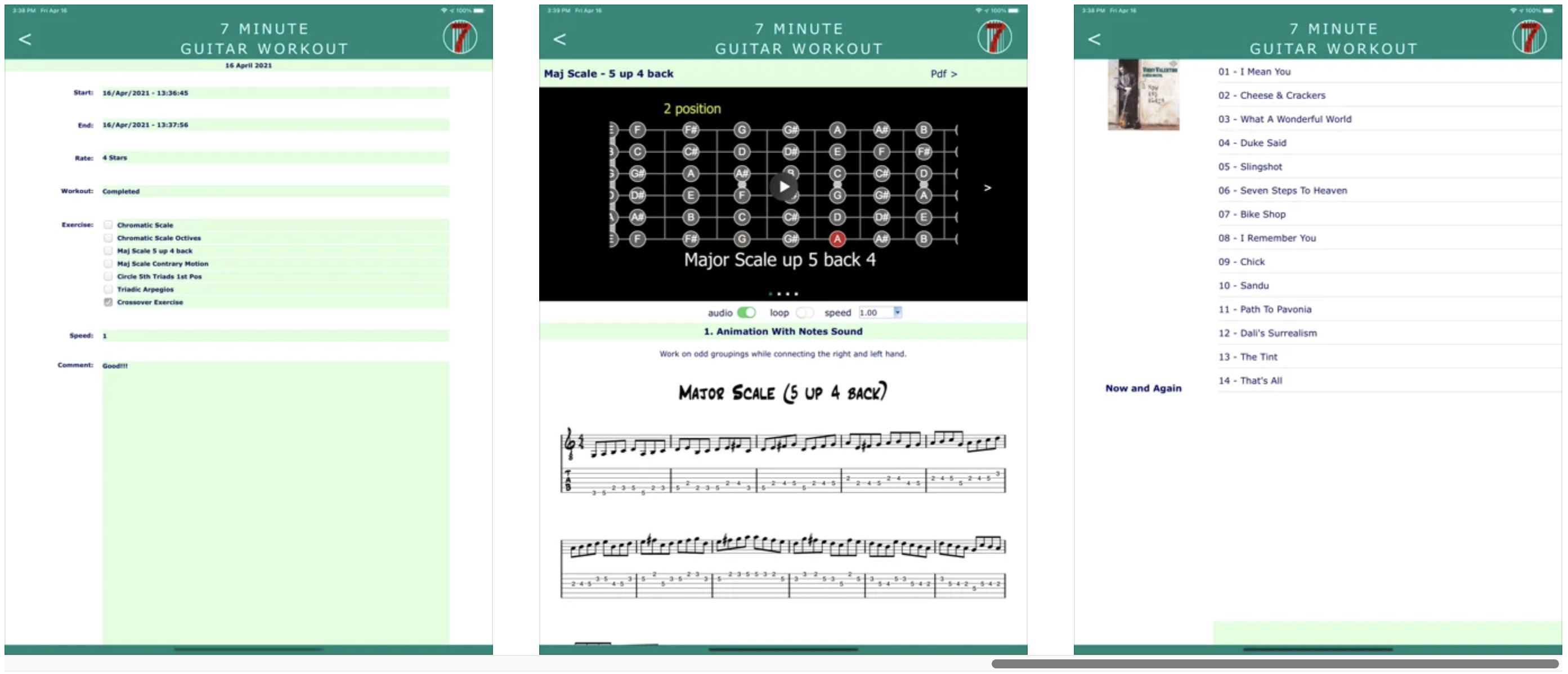 Omnis Mobile App helps Guitarists take 7 minute Workout!
